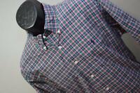 31084 Mens Polo Ralph Lauren Custom Long Sleeve Plaid Dress Shirt Size Large