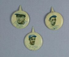 3 1938 PM8 National Game Pins - Carl Hubbell, Jimmy Foxx, Charles Gehringer