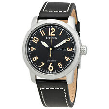 Citizen Chandler Black Dial Mens Leather Watch BM8471-01E