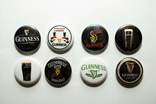 "8 1"" Guinness Irish Beer Dry Stout Neon Drunk  - pinback badges buttons"
