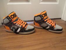 BNIB Size 12 Osiris NYC 83 Shoes Black Orange Gray White