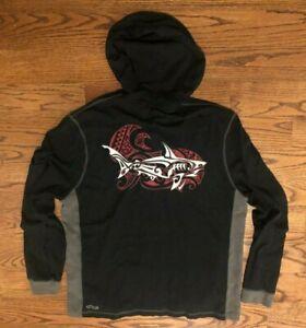 Crazy Shirts Hawaii Great White Shark Lightweight Hoodie Sweatshirt Men's XL