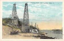 Sapulpa Oklahoma Gushing Oil Well Scenic View Antique Postcard J71124