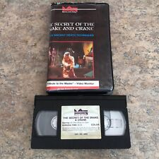 The Secret of the Snake & Crane Kung Fu Tribute Master Arts Video 80s VHS Movie