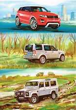 Country Cards Land Rover Discovery Range Rover Evoque Greeting/Birthday card