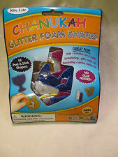 Chanukah Glitter Foam Shapes Stickers Hanukkah Jewish Crafting 48 pcs. Nip