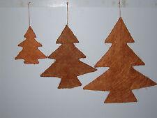 6 x Tannenbaum creme Weihnachten Weihnachtsbaum Weihnachtsdeko Basteln Fenster