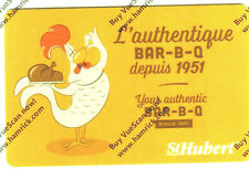 ST-HUBERT RESTAURANT Limited Ed COLLECTIBLE Gift Card New No Value RECHARGEABLE!