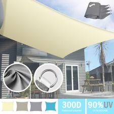 More details for shade sail sun canopy garden awning 90% uv block waterproof outdoor sunscreen uk
