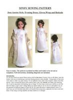 Sindy Sewing Pattern, Jane Austen Style, Evening dress,Gloves ,Wrap and Reticule
