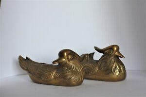 Fengshui, Bronze, Two duck, Bird Statue