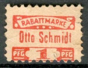 Rabattmarke/Vignette Otto Schmidt 1 Pfg. ohne Datum Jahr um 1945-1956, i. Meckl.