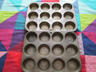 Lot of 2 Vintage 12 count muffin cupcake pans Katzinger 1942 and circle design