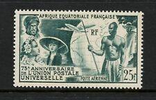 French Equatorial Africa  1949  #C34  UPU maps aviation   1v.  MNH L325