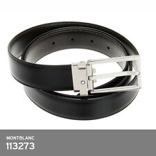 MontBlanc Leather Two Tone Belt Black/Brown113273 Reversible 3x120cm EU Made