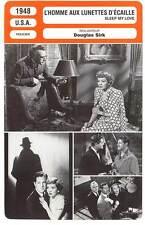 FICHE CINEMA : L'HOMME AUX LUNETTES D'ECAILLE - Colbert,Sirk 1948 Sleep My Love