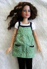 "Outfit green dress sarafan for 16"" Tonner Ellowyne Wilde, BJD, ADG Delilah Noir"