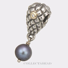 Authentic Pandora Silver & 14K Pearl Grapes Bunch Diamond Bead 790547D *SPECIAL!