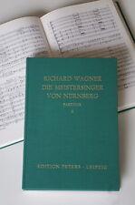 Richard Wagner : Die Meistersinger von Nürnberg - Partitur in 2 Bänden / Peters