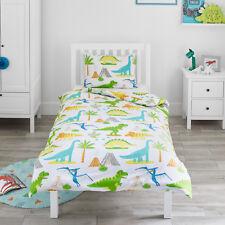 Dinosaur World Jurassic Toddler Bedding Kids Boys Junior Cot Bed Duvet Cover Set