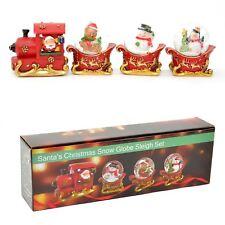 4pcs Novelty Christmas Snow Globe Train Set Nativity Xmas Decorations Gifts