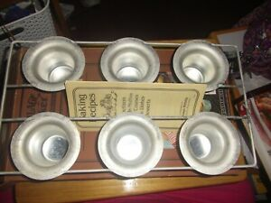 Vintage NEW Village Baker  Popover Pan Bakeware 6 Cup