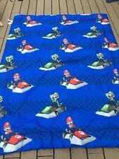 mario Cart twin size comforter fast track Super Mario Luigi Nintendo