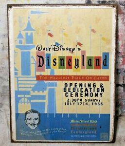 DISNEYLAND OPENING CEREMONEY Handmade Disney World vintage sign