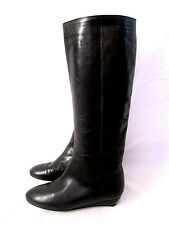 Loeffler Randall Womens Low Heel Topy Matilde Black  Riding Boots S 5 Knee High