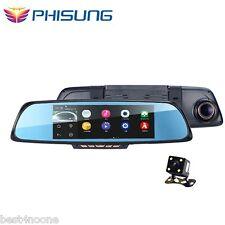 "PHISUNG K05 6.86"" Touch Screen 1080P Car DVR Dual Cam Rearview Mirror GPS WiFi"