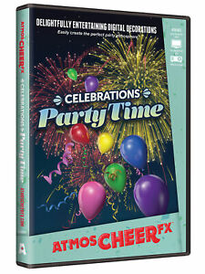 Celebrations Party Time DVD Christmas Window Projection Prop by AtmosCheer FX