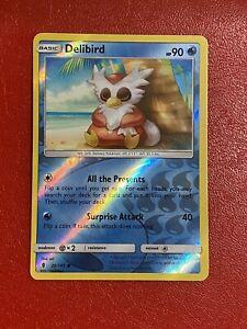 Pokémon TCG Delibird 26/145 Reverse Holo Card Guardians Rising Set No. 225 NM