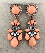 Women Elegant Gorgeous Trend Rhinestone Pink Resin Pretty Chandelier Earrings