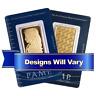 1 Troy oz Pamp Suisse Gold Bar .9999 Fine Random Design In Assay