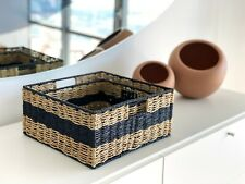 Square Nested Wicker Baskets (Set of 2) by Handcrafted 4 Home