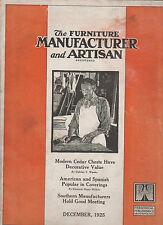 Furniture Manufacturer & Artisan Magazine December 1925 Cedar Chest
