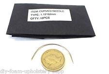 """10pk incurvé rembourrage couture à la main aiguille 1,1 mm x 62 mm par rapport (2 1/4 """") (lcn1.1 X62)"""