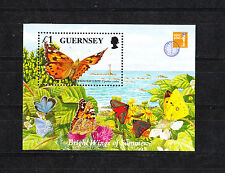GUERNESEY  timbre  bloc  faune  papillons   1997  num:   BF 36    **