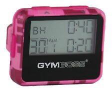 Gymboss Timer a intervalli programmabili e Cronometro – Colore rosa (y5K)
