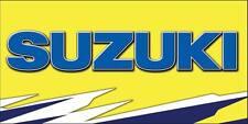 SUZUKI Logo Car Racing Moto Banner Flag Sign Vinyl Garage Pit Mancave 2 x 4'