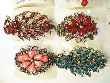 US Seller-lot of 10 pcs wholesale hair barrette with rhinestone