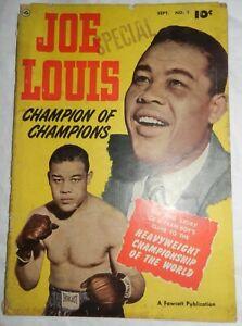 Vintage 1950 Joe Louis, Champion of Champions #1, Fawcett comic book
