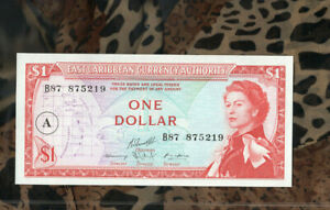 Banknotes of World Antigua East Caribbean States 1 Dollar 1965 UNC P13h B87