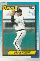 FREE SHIPPING-MINT-1990 Topps #179 Brian Holton Orioles PLUS BONUS CARDS