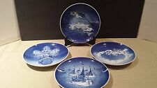 Set of 4 B&G Royal Copenhagen Christmas Plates Jubilee 1980 1985 1990 1995
