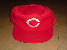 Cincinnati Reds hat Vintage Snapback RaRe mesh ballcap MLB Pete Rose Bench