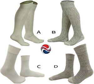 WHITE / BROWN BAVARIAN SOCKS OKTOBERFEST / CAUSAL LEDERHOSEN LONG & SHORT SOCKS