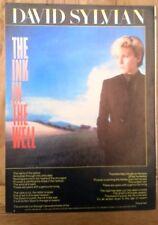 DAVID SYLVIAN (JAPAN) Ink In Well lyrics magazine PHOTO/clipping 11x8 inches