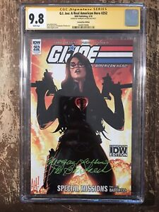 G.I. Joe 252 CGC 9.8 SS Adam Hughes Cover Signed By Morgan Lofting The Baroness!