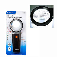 Round 3X Lighted Handheld Magnifier Reading Magnifying Glass Lens Jewelry Loupe
